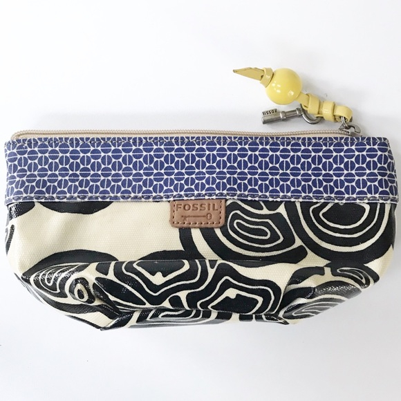 Fossil Handbags - FOSSIL Key Per Wedge Cosmetic Case-Coated Canvas